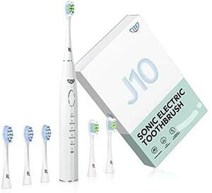 電動歯ブラシ 音波歯ブラシ 2種類のブラシヘッド 歯垢除去 ホワイトニング 歯周病予防 五つモードと2分オートタイマー機能搭載