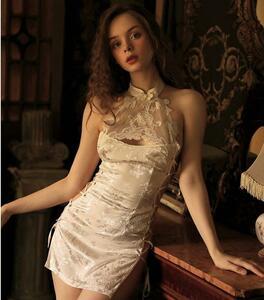 セクシーランジェリー コスプレ衣装 チャイナドレス シルクのようなデザイン 豪華