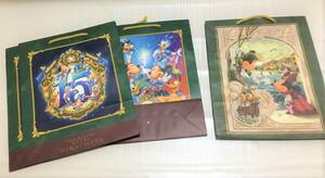 TDR ディズニーホテル ミラコスタ 紙袋 3枚+おまけ1枚 手提げ袋 ディズニーシー 15周年 ショッピングバッグ
