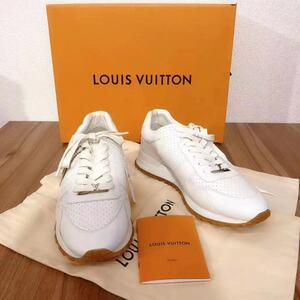 シュプリーム ルイヴィトン SUPREME LOUISVUITTON 17AW LV Run Away Sneaker サイズ:6.5 レザーランナウェイスニーカー ホワイト 箱袋付