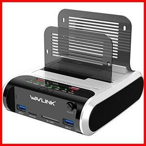 Wavlink HDDスタンド 充電ポート付き USB3.0 2.5型/3.5型 SATA HDD/SSD対応 パソコンなしでHDDのまるごとコピー機能付きSD/Micro