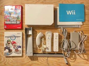 Wii本体+ソフト2本(マリオ)セット