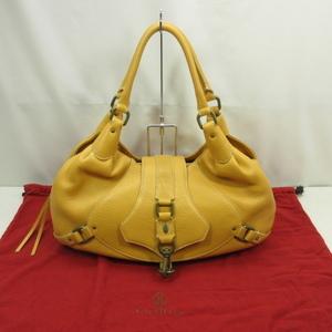 COLE HAAN コールハーン ハンドバッグ キャメル系 鞄 保存袋付き