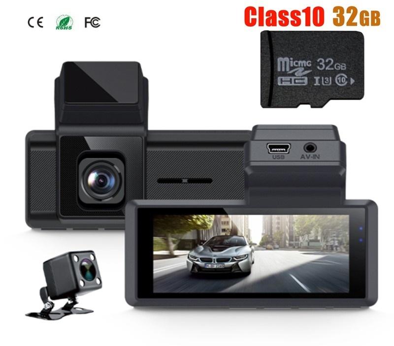 最新版 wifi機能内蔵 ドライブレコーダー デュアルレンズ車DVRデュアルカメラ 1080p+リア480p 3.16インチ IPSスクリーン ナイトビジョン