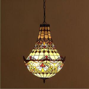 極上品別荘ステンドランプステンドグラス吊り下げ照明ペンダントライト ティファニー装飾品工芸品ベッドルーム用通路用ランプ未使用33800