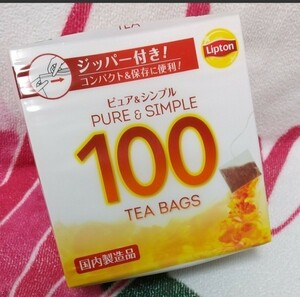 リプトン 紅茶 ピュア&シンプルティーバッグ 100袋