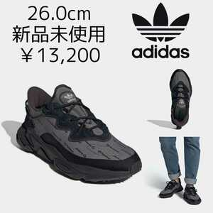 13,200円! 26.0cm adidas originals OZWEEGO 新品未使用 アディダスオリジナルス オズウィーゴ 黒ブラック ダッドシューズ スニーカー 26cm