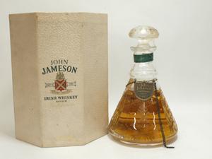 キャップシール割れ★★John Jameson ジョン・ジェムソン 創業200年記念 クリスタルデキャンタ 700ml 特級 箱付★AY84988