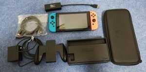 中古品 Nintendo Switch 本体 ネオンブルー ネオンレッド 動作確認品 ニンテンドースイッチ 状態良 おまけ有り