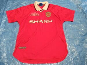 【正規品】 マンチェスターユナイテッド 1999-2000シーズン CLホーム用 半袖 Mサイズ ベッカムギグススコールズ在籍時