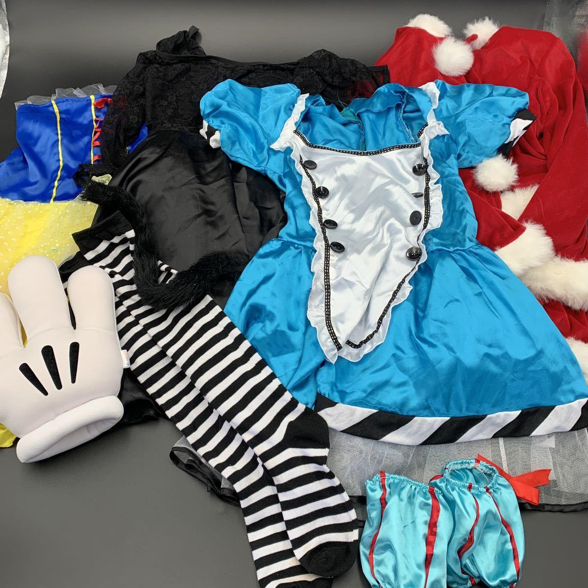 ☆コスプレ衣装 大量☆サンタクローズ 白雪姫 猫耳 アリス ミニスカート まとめ売り まとめて 大量 ハロウィン コスプレ 靴下 かわいい
