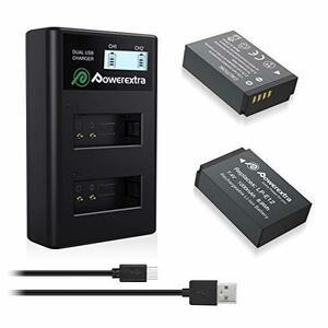 新品LP-E12 2個バッテリー+急速充電器 Powerextra Canon LP-E12 互換バッテリー 2YOGR
