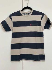 THE NORTH FACE ボーダーTシャツ 半袖Tシャツ ザノースフェイス S