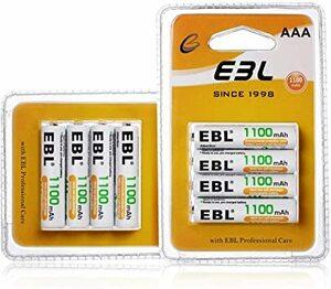 単4形電池 8個パック EBL 単4充電池 充電式 ニッケル水素充電池 8本入り 高容量充電池 1100mAhで長持ち 約120