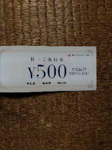 ハイデイ日高 株主優待券 1000円分