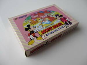 未使用 FC ミッキーマウス 不思議の国の大冒険 ソフト 箱説付 ファミコン Mickey Mouse