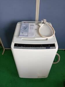 HITACHI/ヒタチ/BEATWASH/ビートウォッシュ/日立全自動電気洗濯機/8.0kg/BW-V80C/2019年製/説明書有/ホース有り/付属品は写真で全て/1007d2