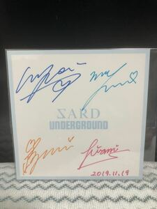 ★☆超激レア☆★ SARD UNDERGROUND 4人最後の直筆サイン色紙