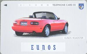 * new goods unused *TELEPHONE CARD EUNOS ROADSTER red 50 frequency *