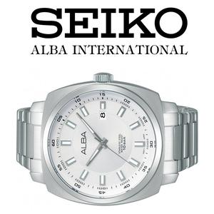 1円×3本セイコーALBA逆輸入モデル美しすぎるWHITE/ホワイト/10気圧100m防水新品メンズ激レア入手困難アルバ日本未発売SEIKO