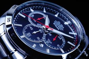 1円×3本SEIKO逆輸入モデル海外機種ブラックフェイス10気圧100m防水 クロノグラフ新品 メンズ激レア入手困難アルバ日本未発売ALBA腕時計