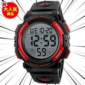 ★残1個!色 ストップウォッチ機能付き アラーム スポーツウォッチ watch aC27X 防水時計 led 防水腕時計 メンズ