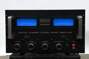 【発送不可】McIntosh マッキントッシュ MC2600 ステレオパワーアンプ【発送不可】