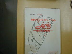 ACBアシベ~恋の片道切符台本富田靖子田原俊彦柴俊夫牧野アンナ