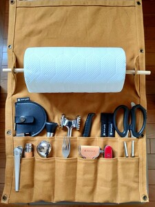 【訳あり】カラトリーロールケース アウトドア キャンプ グランピング 食器収納 キッチンロールホルダー