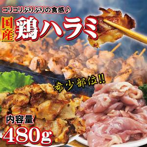 国産鶏ハラミはらみさがり希少部位 480g 【ホルモン】【焼肉】【バーベキュー】【メガ盛り】【サガリ】【さがり】