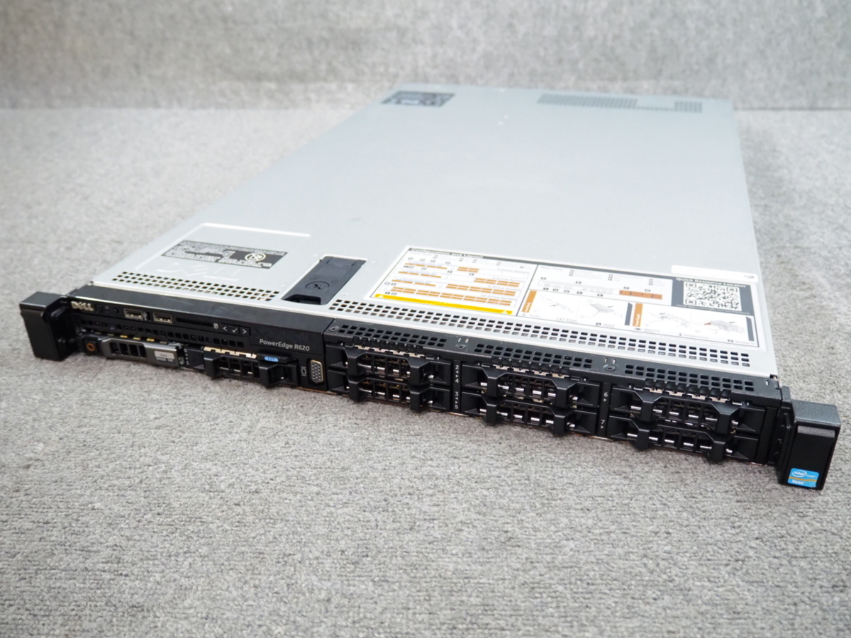 [E] ☆ 8コア×2個 高性能サーバー ☆ DELL PowerEdge R620 8C E5-2670 2.60GHz×2/64GB/900GB×1/RAID (H310 Mini) ☆10Gb LAN ☆