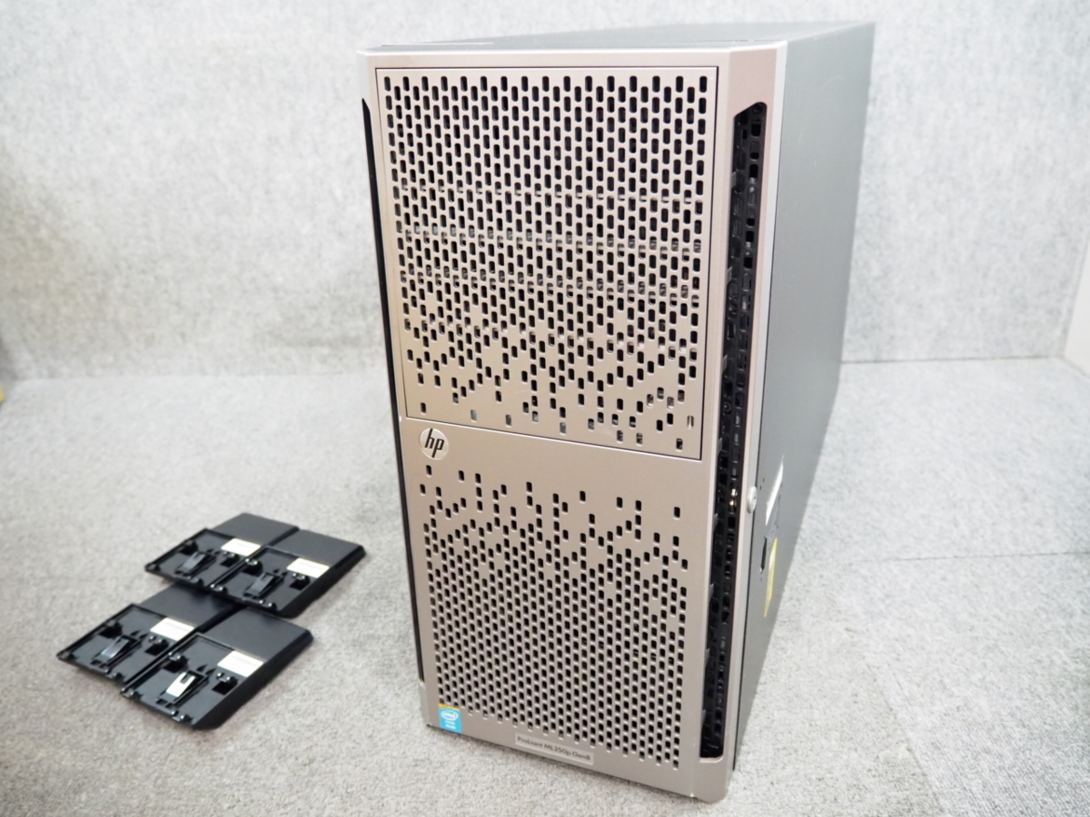 [2] ☆ 10コア×2個!高性能サーバー ☆ hp ProLiant ML350p Gen8 10C E5-2680 v2 2.80GHz×2/32GB/300GB×1/RAID (P420i) ☆