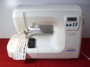 【JUKIミシン】自動糸切り機能搭載 T400 動作品 デニム地素材 レザー素材など