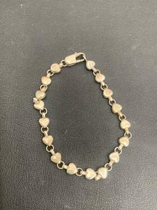 【1062】Tiffany&Co. ティファニー パフハート ブレスレット シルバー 925