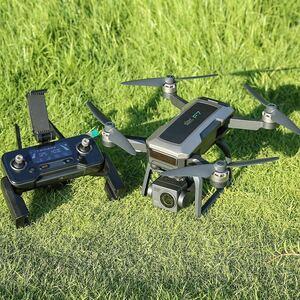 最新SJRC F7 4K PRO 高画質3軸ジンバル 4Kカメラ EIS WiFi ブラシレス ドローン 3200m中継 モード1/2切替 GPS搭載 折りたたみDJI Spark対抗