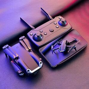 バッテリー2本 三方向障害回避機能 4K高画質カメラ ドローン オプティカル測位 補助カメラ 超安定 折りたたみ ジェスチャー 200g以下規制外