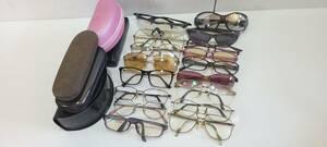 【1円~】メガネ サングラス まとめ セット 17個 ケース 4 メタル フレーム