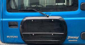 1円~!即納!JB64 JB74 ジムニー シエラ 専用設計 スペアタイヤレスカバー 背面レスカバー ブラック 新品