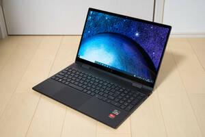 HP ENVY x360 15-ee/Ryzen 5 4500U/16GB/512GB SSD/15.6型1920x1080光沢液晶/美品