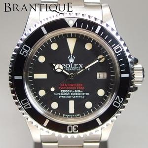【超希少 赤シード OH済】ROLEX SEA-DWELLER シードゥエラー OYSTER PERPETUAL DATE 1665 自動巻 黒文字盤 メンズ 腕時計 サービス保証書付