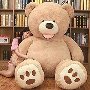 新品 ライトブラウン 200cm NOVA ぬいぐるみ 特大 くま クマ 熊 テディベア 抱き枕 クッション かわいHVOX