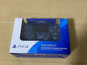 PS4 ワイヤレスコントローラー DUALSHOCK4 ミッドナイトブルー プレイステーション4 デュアルショック4 新品未開封 純正