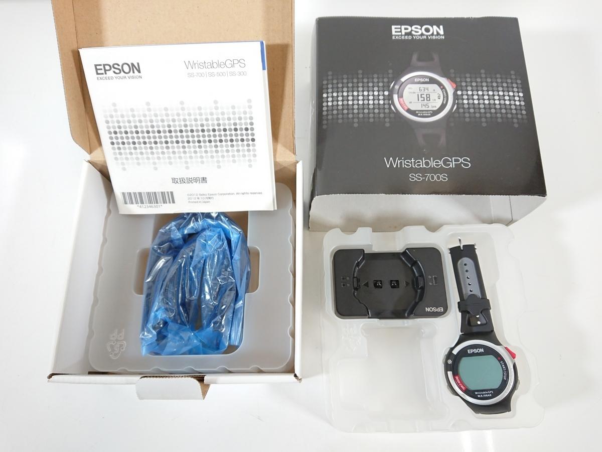 EPSON エプソン Wristable GPS SS-700S ブラック 黒 GPS機能付き ランニング スポーツ 消費カロリー 動作品 ユーズド