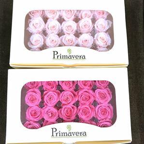 べべのライトピンクとピンク primaveraプリマヴェーラ プリザーブドフラワー