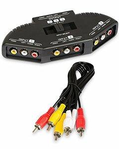 Fosmon Fosmon AV セレクター 切替器 3入力1出力 コネクタ 3ポート【RCAスイッチ + RCAコンポジット