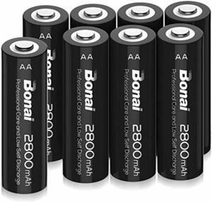 BONAI 8個パック 単3 充電池 BONAI 単3形 充電池 充電式ニッケル水素電池 8個パック(超大容量2800mAh