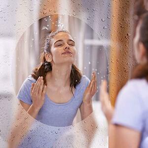 Decocar 30cm*100cm HOHOFILM 浴室用ガラスフィルム 防曇 くもり止めフィルム お風呂 ミラー