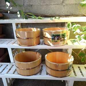 木製 古民具 昭和レトロ 木桶 湯桶 天然木 未使用