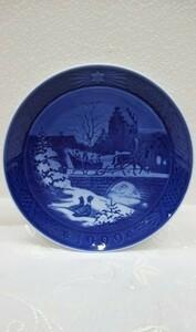 ◆送料無料◆ロイヤルコペンハーゲン Royal Copenhargen イヤープレート 1999 クリスマスプレート 飾皿 プレートのみ 中古美品 #1087