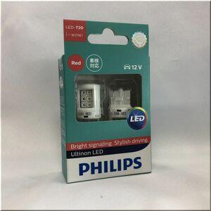 【送料無料】PHILIPS アルティノン LEDバルブ ストップランプ用 T20シングル W21W レッド 11065ULRX2